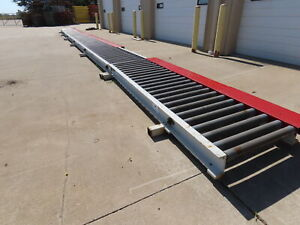 62 Chain Driven Powered Live Roller Conveyor 3 5 X 32 Steel Rollers 3ph 480v