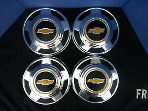1973 1987 Chevy Dog Dish 10 1 2 Hubcaps Set Of 4 C10 Pickup Truck Van 15