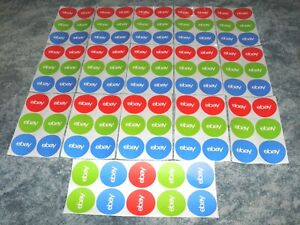 100 Stickers Classic Round Ebay Stickers 3 X 3 Office Supplies New Unused