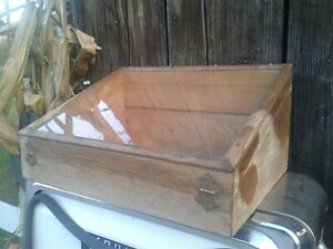Antique Wood Glass Display Case
