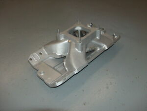 Heavily Modified Edelbrock Victor Intake Manifold Chevy 2975 Water Neck Delete