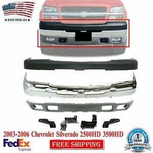 Front Bumper Chrome Cover Valance For 03 06 Chevy Silverado 2500hd 3500hd