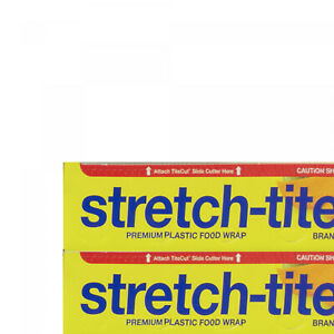 Stretch tite Plastic Food Wrap 2 Pack 500 Sq Ft Each