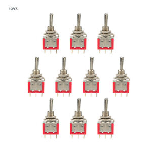 10pcs On off on Momentary Toggle Switch Dpdt 6 pin 6mm 2a 250vac 5a 120vac New