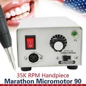 Dental Lab Micromotor Marathon Strong 90 Micro Motor 35k Rpm Handpiece Fast Ship