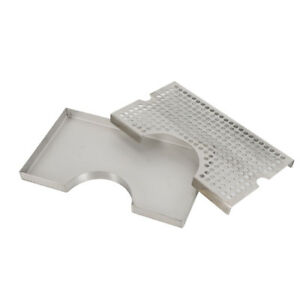 Surface Mount No Drain Tap Draft Beer Kegerator Tower Drip Tray Stainless Steel