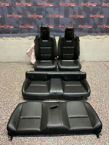 2010 Chevrolet Camaro Ss Oem Black Leather Front Rear Seats One Blown Bag