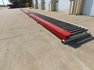 75 Chain Driven Powered Live Roller Conveyor 3 5 X 32 Steel Rollers 3ph 480v
