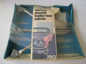 Roberk Fender Mount Trailer Tow Mirror 750 No Drilling Driver Side Vintage Usa