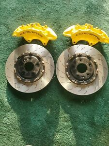 C7 Corvette Z06 Gs Oem Front Brembo Calipers 2piece Rotors Fits 2014 19yellow
