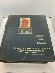 Vintage Tecumseh Engines Lauson Power Products Master Parts Manual Book