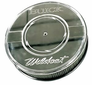 Air Cleaner 14 Round Flat Polished Aluminum Air Cleaner Fits Buick Nailhead Eng