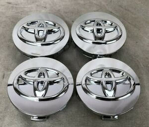 Set Of 4 Fits Toyota Wheel Center Hub Cap Mirror Chrome Logo 62mm 2 1 2
