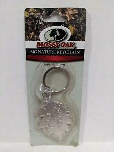 Discontinued Mossy Oak Brand Camo Signature Keychain new Metal Nip