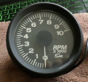 Vintage Sun Tachometer Mach 450 Early 1970 s 10k Rpm V8 12 Volt Used