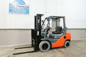 2012 Toyota 8fgu25 5 000 Pneumatic Tire Forklift Dual Fuel 2 008 Hours