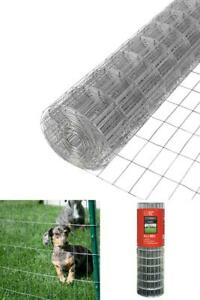 Steel Welded Wire Fencing Mesh 4 X 100 Ft Silver Metal Galvanized Garden Fences