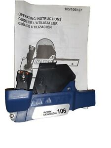 Avery Dennison 105 106 107 Price Label Gun Hand Labeler Two Lines Blue