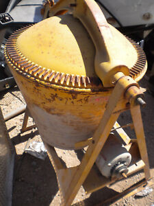 Concrete Cement Mixer Steel Drum Heavy Duty Gilson Sears Yellow Electric Or Gas