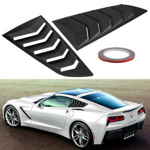 2pc Side Window Louver Cover Sun Shade Scoop Hood Vent For 2014 2019 C7 Corvette