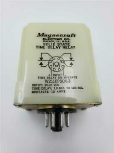 Magnecraft Time Delay Relay 1 0 180 Sec W211cpsox 3