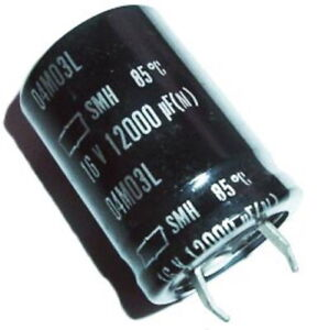 12000uf 16v Radial Electrolytic Capacitors Snap In Nippon Smh Series 6 Pcs