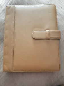 Brown Levenger Genuine Leather Organizer Planner Notebook Book Cover