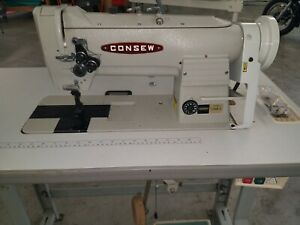 Consew 339rb 4 Heavy Duty Two Needle Walking Foot Sewing Machine
