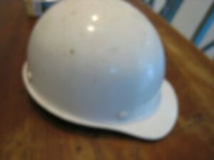 Vintage Msa Fiberglass Cap Style Hard Hat Nice Suspension White Size Medium See