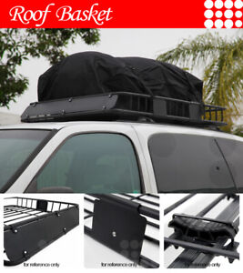 Fit Jeep Car Roof Top Basket Travel Luggage Carrier Cargo Rack Extension