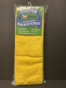 Winco Btm 16ac Square Microfiber Bar Towels In Multiple Colors Pack Of 6 New
