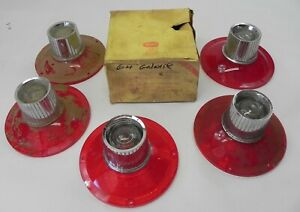 Vintage 1964 Ford Galaxie Tail Light Lenses With Back Up