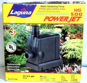 Boxed Laguna Power Jet Water Gardening Pump Pt 406 211gph See Pictures