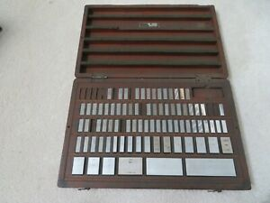 Vintage Icc and Other 80 Piece Gage Block Set Case Gauge Jo Joe