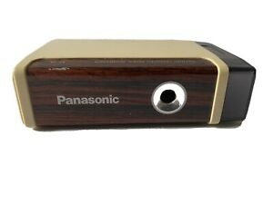 Vtg Panasonic Kp 2a Battery Operated Pencil Sharpener Brown Wood Grain Tested
