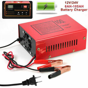 1pc Full Automatic Maintenance Free Battery Charger For Motorcycle Car 12v 24v