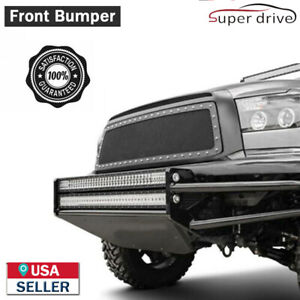 Fits 2002 2007 Dodge Ram 1500 Black Off Road Bumper W 2 X 38 Led Light Bars