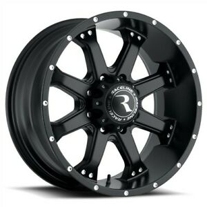 Set Of Four Raceline Wheels Assault 18x9 6x135 25 Black