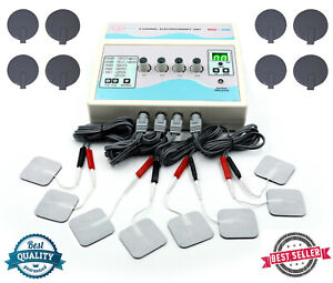 Prof Electrotherapy 4 Channel Pain Relief Chiropractic Ultrasound Therapy Unit