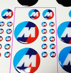 Set Of 14 M Power Motorsport M Style Or Black Emblems Domed Decals For Bmw Any