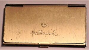 Vintage Hallmark Signed Metal Calling Card Business Card Case Gold tone 3