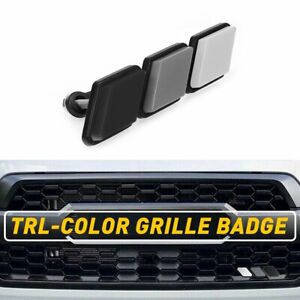 Tri Color 3 Grille Badge Emblem For Toyota Tacoma 4runner Tundra Us White Gray