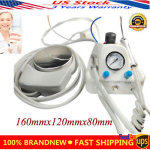 Portable Dental Turbine Unit Work For Air Compressor 4 Holes Dentist Syringe New