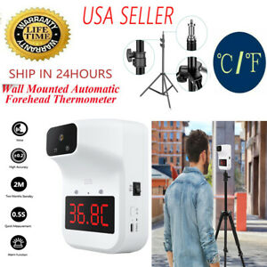 Wall mounted Infrared Thermometer Digital Automatic Non contact Forehead Adult