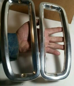 Vintage 1960s Or 1970s Ford Chevrolet Chevy Gmc Tail Light Ring Bezel Trim