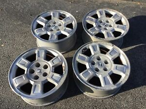 Honda Ridgeline Odyssey 17 Original Factory Alloy Silver Oem Wheels used