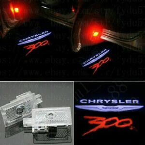 2x Custom Color Led Door Ghost Logo Projector Puddle Light Chrysler 300 2005 20