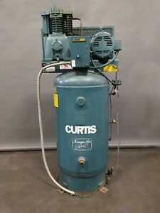 Curtis toledo Air Compressor 7 1 2 Hp 600 Lbs 80 Gallon 175 Psi 208 Volts