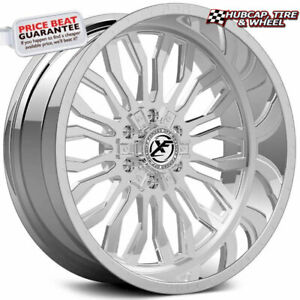 Xf Offroad Xfx 305 Chrome 20x10 Custom Wheels Rims Set Of 4