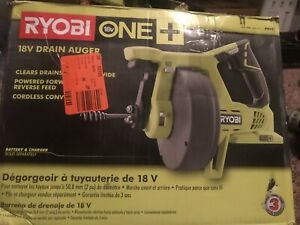 Ryobi P4001 18v 18 volt One Drain Auger Pipe Snake Sewer Cleaner Bare Tool Only